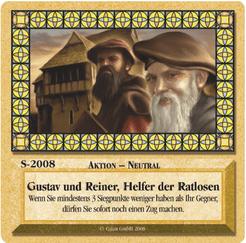 Die Siedler von Catan: Das Kartenspiel – Sonderkarte 2008 – Gustav und Reiner, Helfer der Ratlosen
