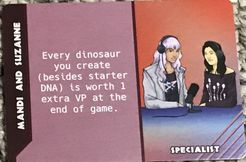 Dinosaur Island:  Dice Tower – Mandi and Suzanne Promo Card