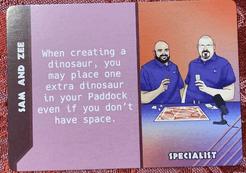 Dinosaur Island:  Dice Tower – Sam and Zee Promo Card