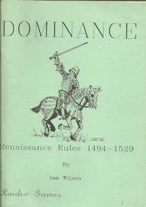 Dominance: Renaissance Rules 1494-1529