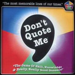 Don't Quote Me: Deluxe Edition
