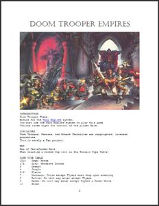 Doom Trooper Empires