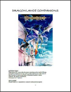 Dragon Lance Companions