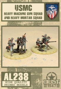Dust 1947: USMC Heavy Machine Gun Squad and Heavy Mortar Squad