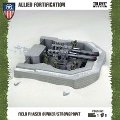Dust Tactics: Allied Fortification – Field Phaser Bunker / Strongpoint