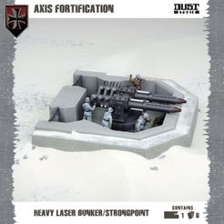 Dust Tactics: Axis Fortification – Heavy Laser Bunker / Strongpoint