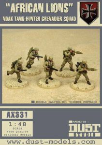 Dust Tactics: NDAK Tank-Hunter Grenadier Squad –