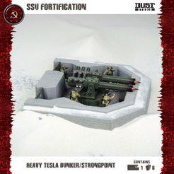 Dust Tactics: SSU Fortification – Heavy Tesla Bunker / Strongpoint