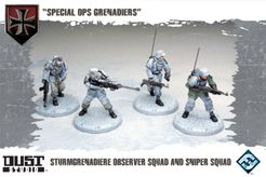 Dust Tactics: Sturmgrenadiere Observer Squad and Sniper Squad –