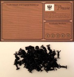 Empires: Age of Discovery – Prussia Player Board and Black Figures