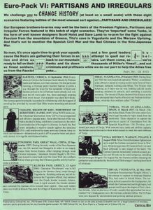 Euro-Pack VI: Partisans and Irregulars