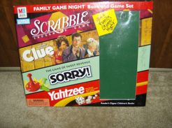 Family Game Night Book and Game Set: Scrabble, Clue, Sorry, Yahtzee