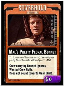 Firefly: The Game – Mal's Pretty Floral Bonnet Promo Card