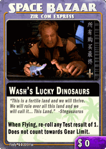 Firefly: The Game – Wash's Lucky Dinosaurs Promo Card