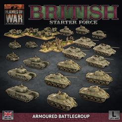 Flames of War: British Starter Force – Armoured Battlegroup
