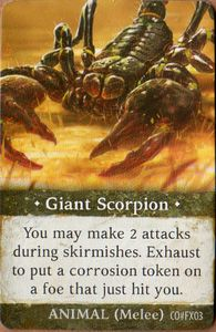 Folklore: The Affliction – Giant Scorpion Promo Card