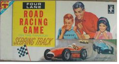 Four Lane Road Racing Game on the Sebring Track