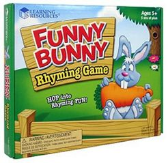 Funny Bunny Rhyming Game