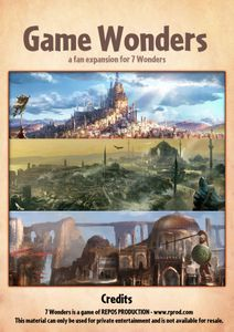 Game Wonders (fan expansion for 7 Wonders)