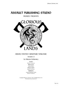 Glorious Lands: Heroic Fantasy Miniature Wargame