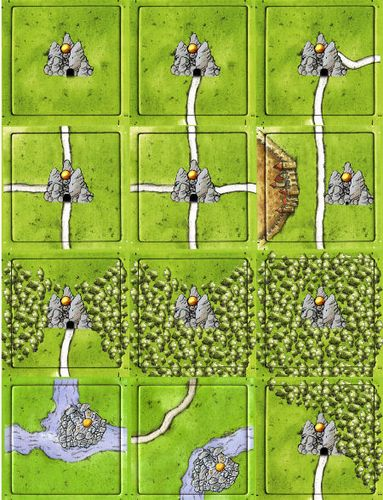Gold Mines (fan expansion to Carcassonne)