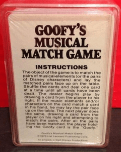 Goofy's Musical Match Game