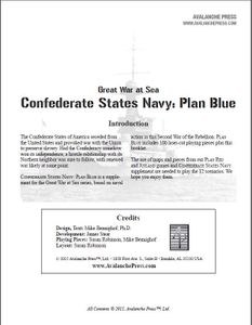 Great War at Sea: C.S. Navy Plan Blue