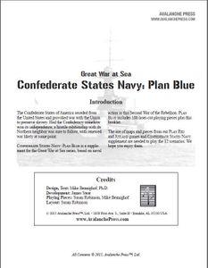 Great War at Sea: C.S. Navy Plan Blue