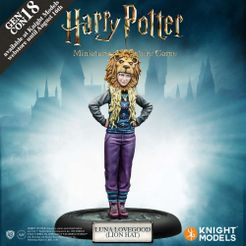 Harry Potter Miniatures Adventure Game: Luna Lovegood Lion Hat