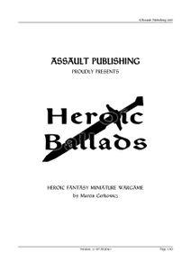 Heroic Ballads: Heroic Fantasy Miniature Wargame