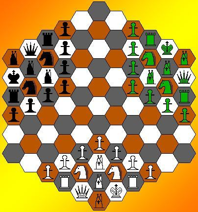 Hexagonal Chess for three