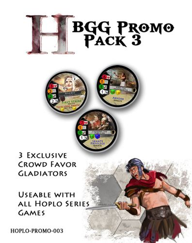 Hoplomachus: Crowd Favor Gladiators – BGG Promo Pack 3