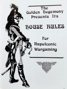 House Rules for Napoleonic Wargaming