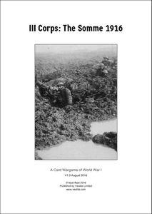 III Corps: The Somme 1916