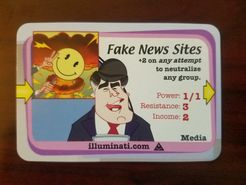 Illuminati: Fake News Sites Promo Card
