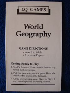 I.Q. Games: World Geography