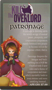 Kill the Overlord: Patronage