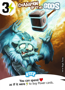 King of Tokyo: Champion of the Gods Promo Card
