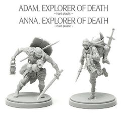 Kingdom Death: Monster – Adam & Anna, Explorers of Death Promo Miniatures