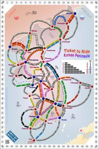 Korean Peninsula (fan expansion of Ticket to Ride)