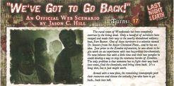 Last Night on Earth 'We've Got To Go Back!' Scenario
