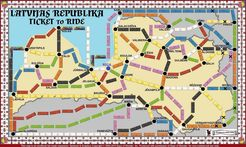 Latvia (fan expansion of Ticket to Ride)
