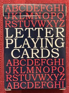 Letter Playing Cards