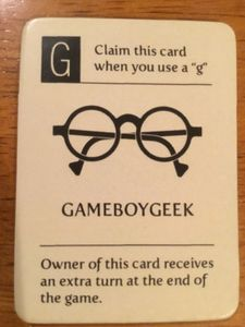Letter Tycoon: Game Boy Geek Promo Card