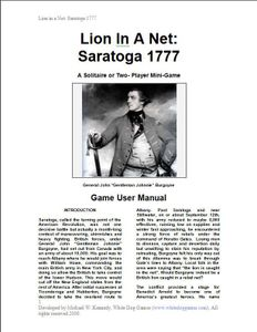 Lion In A Net: Saratoga 1777