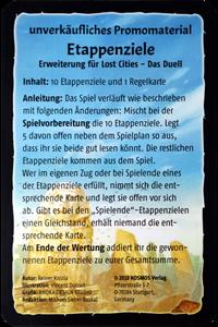 Lost Cities: Etappenziele