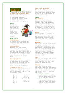 MACE: Martial Arts Card Engine