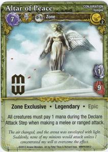 Mage Wars: Altar of Peace Promo Card