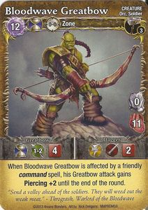 Mage Wars: Bloodwave Greatbow Promo Card