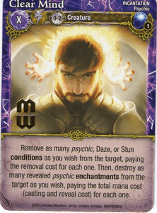Mage Wars: Clear Mind Promo Card